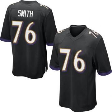 Men's Andre Smith Baltimore Ravens Game Black Jersey