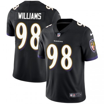 Men's Brandon Williams Baltimore Ravens Limited Black Alternate Jersey