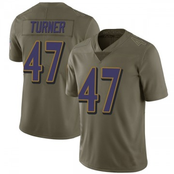Men's De'Lance Turner Baltimore Ravens Limited Green 2017 Salute to Service Jersey
