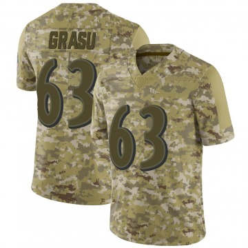 Men's Hroniss Grasu Baltimore Ravens Limited Camo 2018 Salute to Service Jersey