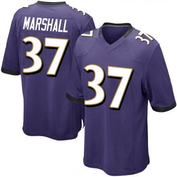 Men's Iman Marshall Baltimore Ravens Game Purple Team Color Jersey