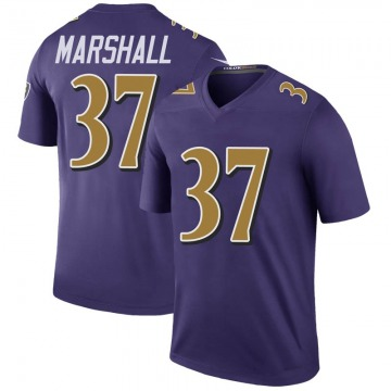 Men's Iman Marshall Baltimore Ravens Legend Purple Color Rush Jersey