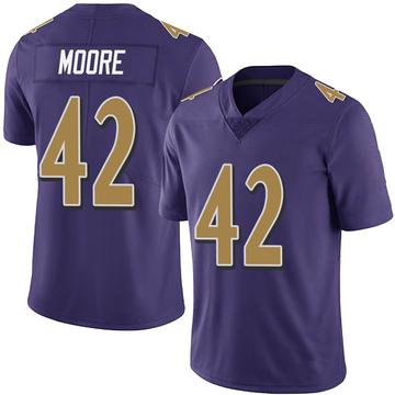 Men's Nick Moore Baltimore Ravens Limited Purple Team Color Vapor Untouchable Jersey