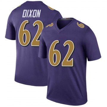 Youth Daishawn Dixon Baltimore Ravens Legend Purple Color Rush Jersey