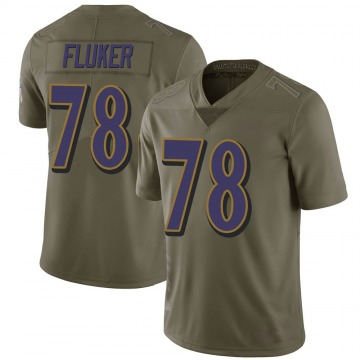 Youth D.J. Fluker Baltimore Ravens Limited Green 2017 Salute to Service Jersey