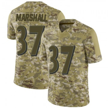 Youth Iman Marshall Baltimore Ravens Limited Camo 2018 Salute to Service Jersey