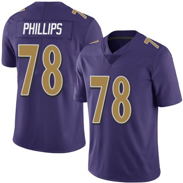 Youth Tyre Phillips Baltimore Ravens Limited Purple Team Color Vapor Untouchable Jersey